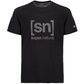 super.natural Essential I.D. Camiseta manga corta Hombre, jet black/print